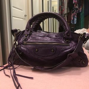 EUC Balenciaga Authentic Eggplant Bag